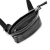 Tracolla in pelle con zip bata, nero, 964-6131 - 16