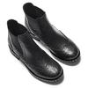 Stivaletti alla caviglia in pelle bata, nero, 594-6184 - 19