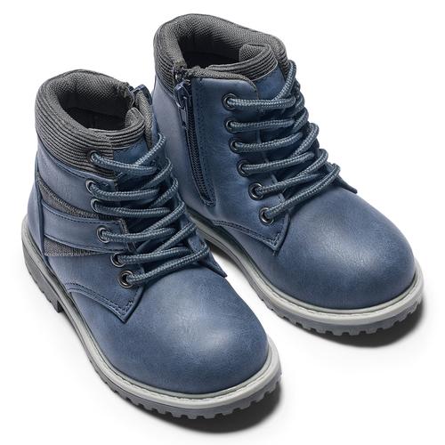 Stivaletti da bambino con lacci mini-b, blu, 291-9168 - 15