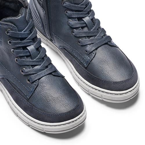Sneakers alte da bambino con zip mini-b, blu, 391-9397 - 15