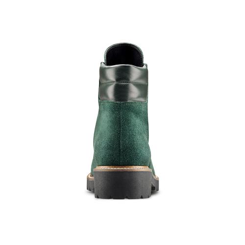 Stivaletti con lacci da donna bata, verde, 593-7268 - 16
