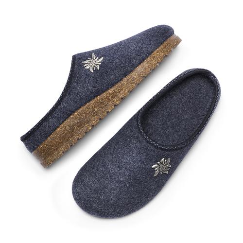 Ciabatte in lana cotta bata, blu, 579-9420 - 26