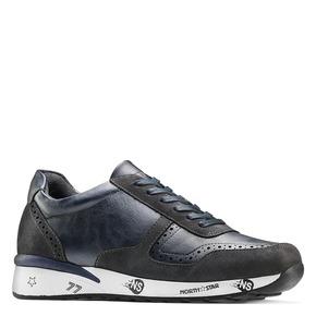 Sneakers da uomo con logo north-star, blu, 841-9737 - 13