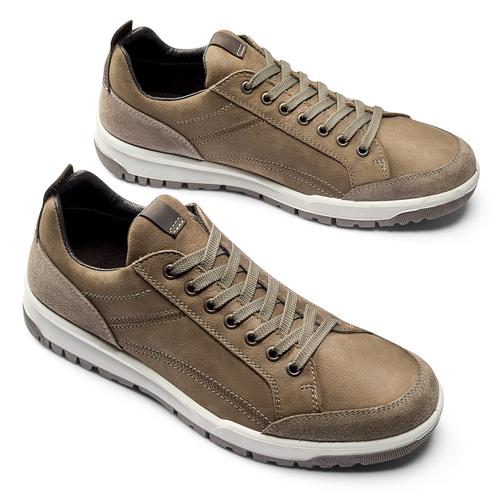 Scarpe uomo con lacci bata, marrone, 846-4105 - 19
