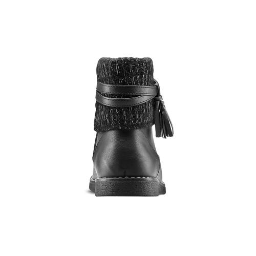 Stivaletti bimba con dettaglio in lana e nappine mini-b, nero, 391-6411 - 16