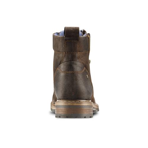 Stivaletti in pelle scamosciata da uomo bata, marrone, 893-4137 - 16