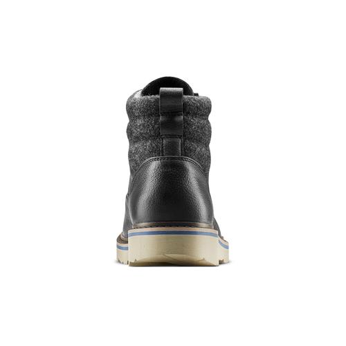Stivaletti neri in pelle bata, nero, 894-6731 - 16