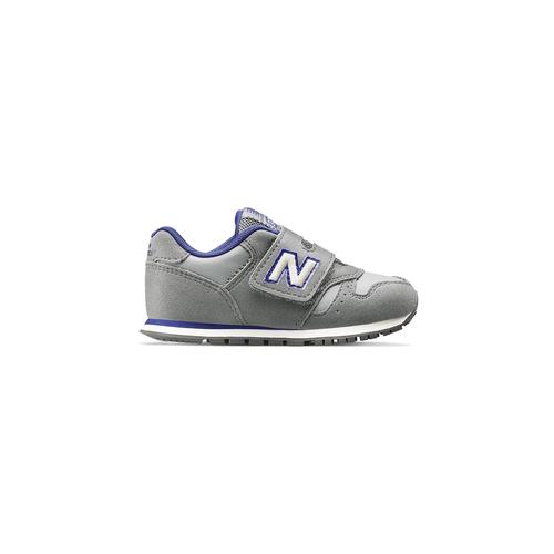 Sneakers con strap da bimbi new-balance, grigio, 101-2473 - 26