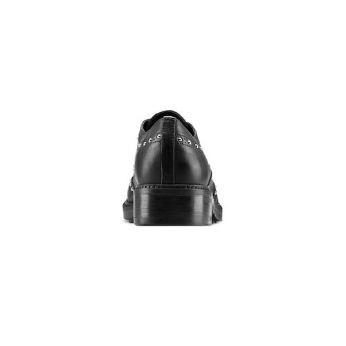 Stringate dettaglio borchie bata, nero, 524-6654 - 16