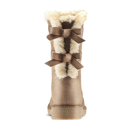 Stivali donna con ecopelliccia bata, beige, 599-2994 - 16