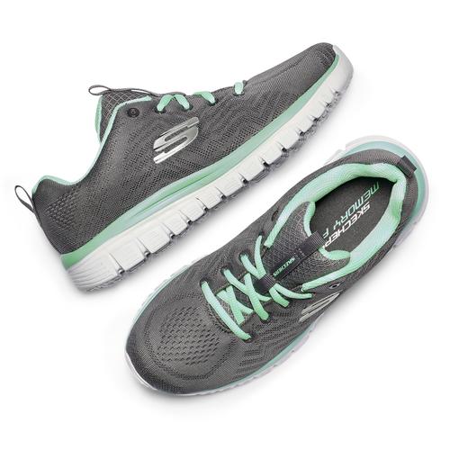 Scarpe sportive Skechers skechers, grigio, 509-2318 - 19