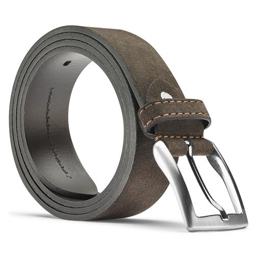 Cintura da uomo con fibbia bata, marrone, 953-4101 - 26
