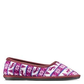 Pantofole in ciniglia da donna bata, rosso, 579-5423 - 13