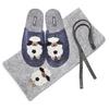 Pantofole in lana cotta da donna bata, viola, 579-9128 - 19