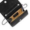 Tracolla in pelle con borchie bata, nero, 964-6277 - 16