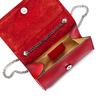 Tracolla da donna in vera pelle bata, rosso, 964-5277 - 16