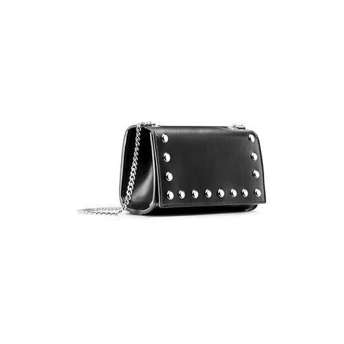Tracolla in pelle con borchie bata, nero, 964-6277 - 13