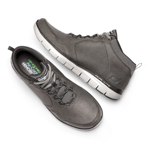 Sneakers Skechers in pelle skechers, grigio, 806-2327 - 19