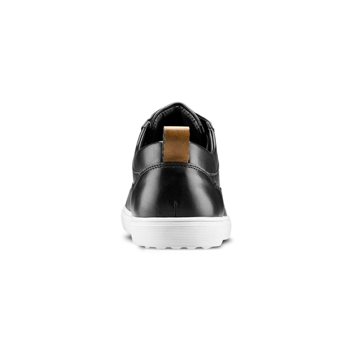 Sneakers in similpelle bata, nero, 841-6154 - 16