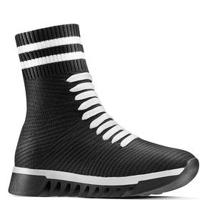 Sneakers alte da donna bata, nero, 549-6207 - 13