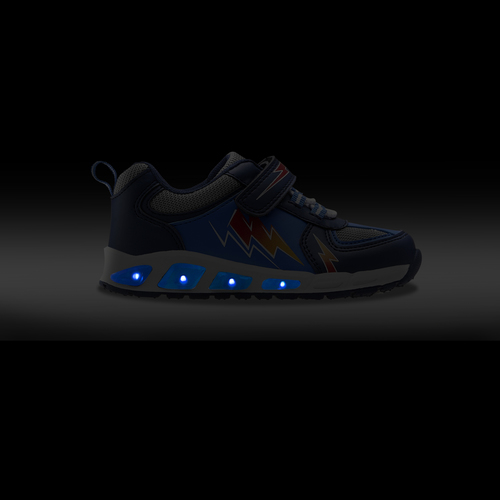 Scarpe basse con luci mini-b, blu, 211-9183 - 18