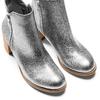 Stivaletti laminati con strass bata, argento, 791-2245 - 17