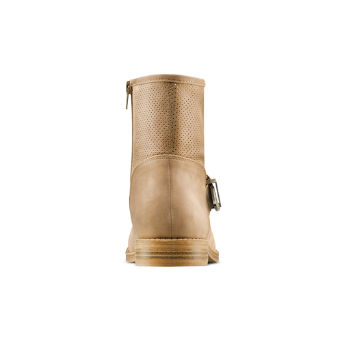 Ankle boots con fibbia bata, beige, 599-8691 - 15