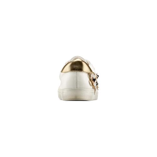 Sneakers con dettagli floreali bata, bianco, 541-1189 - 15