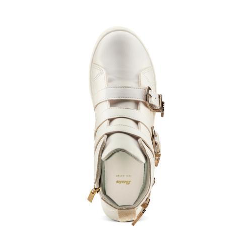 Sneakers alte con fibbie bata, bianco, 541-1193 - 17