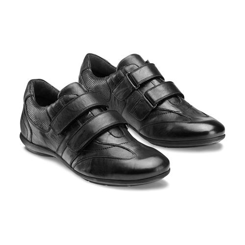 Sneakers da uomo con strappi bata, nero, 844-6140 - 16