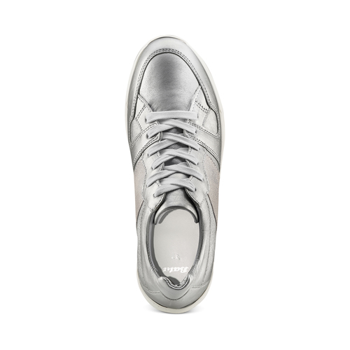 Sneakers silver Platform bata, 624-1158 - 17