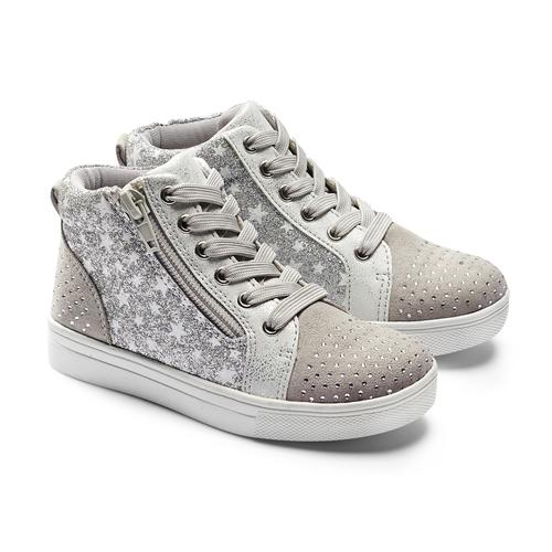 Sneakers da bambina con glitter mini-b, 229-2107 - 19
