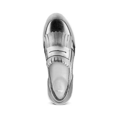 Sneakers con frange bata, grigio, 614-2131 - 17