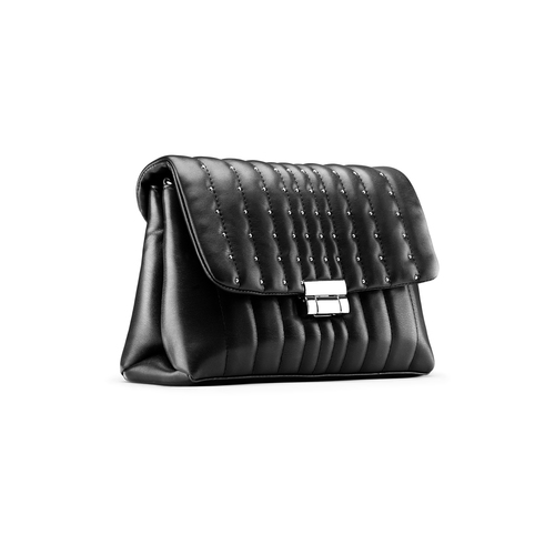 Borsa tracolla con micro borchie bata, nero, 961-6211 - 13