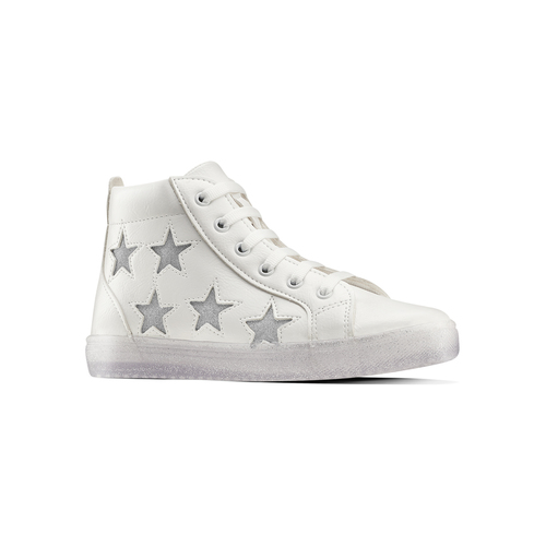Sneakers alte con stelle mini-b, bianco, 321-1322 - 13