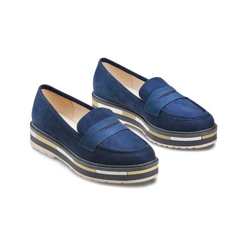 Mocassini Platform da donna bata, blu, 519-9209 - 16