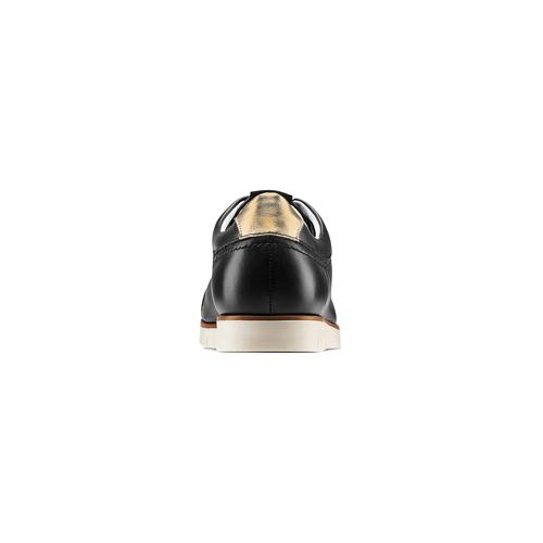 Sneakers Flexible in pelle flexible, nero, 524-6199 - 15