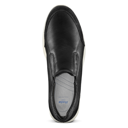 Slip-on in pelle bata-light, nero, 834-6162 - 15