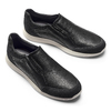 Slip-on in pelle bata-light, nero, 834-6162 - 19