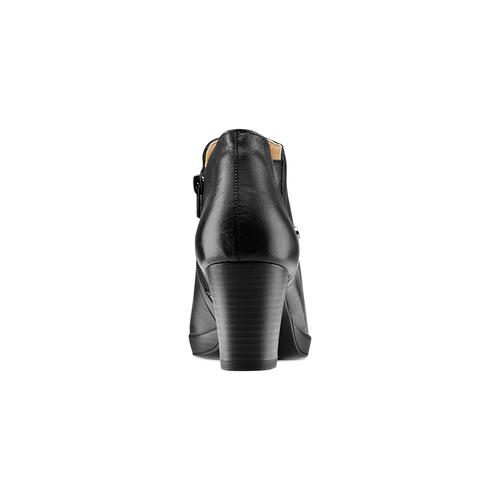 Ankle boots in vera pelle bata, nero, 724-6186 - 15