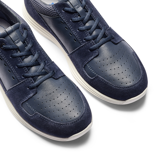 Sneakers in pelle bata-light, blu, 844-9161 - 19