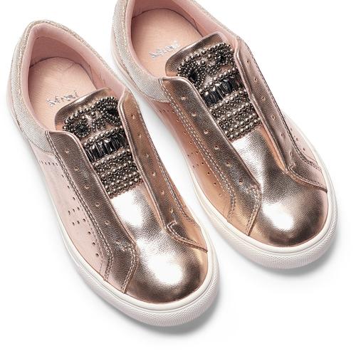Sneakers senza lacci mini-b, rosa, 321-5357 - 26