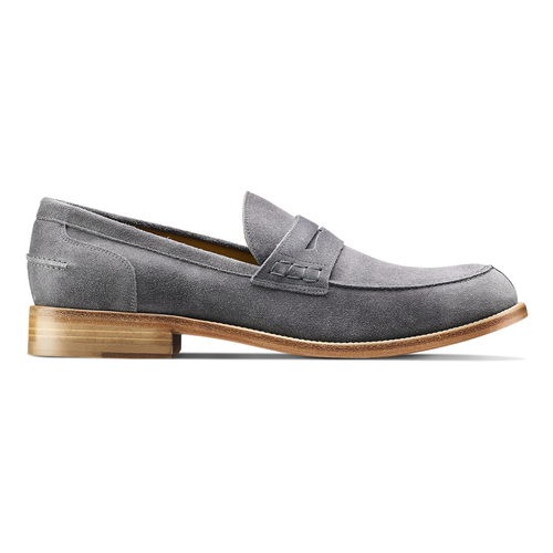 Mocassini in pelle scamosciata bata-the-shoemaker, grigio, 813-2116 - 26
