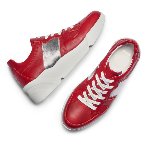 Sneakers Platform in pelle bata, rosso, 624-5158 - 26