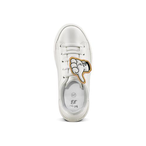 Sneakers con dettagli fumetto mini-b, bianco, 211-1193 - 15