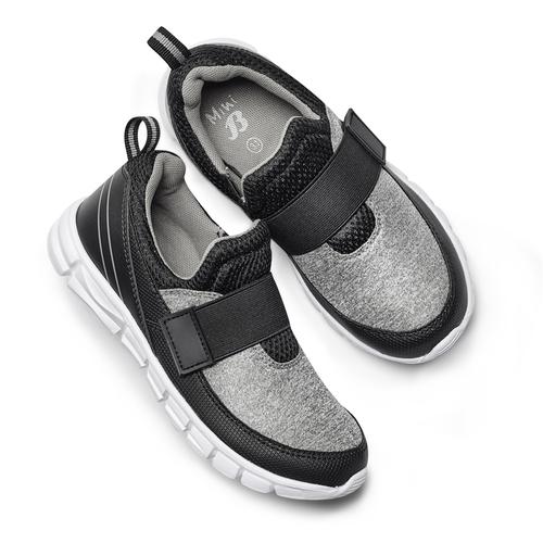 Sneakers da bimbo senza lacci mini-b, nero, 319-6152 - 26