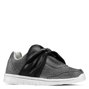 Sneakers da bambina con fiocco mini-b, nero, 329-6341 - 13