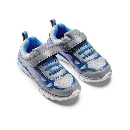 Sneakers da bambino con elastici mini-b, grigio, 319-2148 - 16