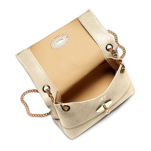 Minibag in pelle bata, beige, 964-8239 - 16