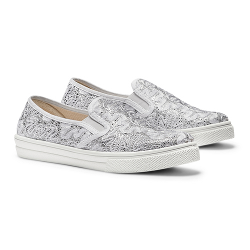 Slip on da bambina mini-b, argento, 329-1327 - 26